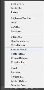 foto zwart wit maken in photoshop_aanpassingslaag zwartwit