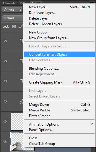 Slim object in Photoshop_Omzetten naar slim object