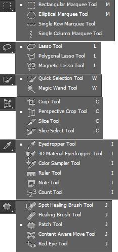 Vertaling Photoshop CS6 gereedschappen